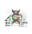 dna science lab flat style design vector image vector image