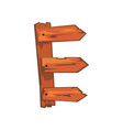 english letter e formed downed wood planks vector image