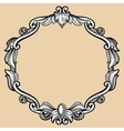 Engraving border frame with pattern in retro