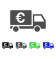 euro shipment icon vector image vector image