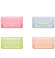 female handbags in pastel tones vector image vector image