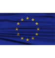 Flag of European Union with old texture vector image