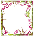 Frame summer time vector image vector image