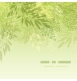 Fresh glowing spring plants square template vector image