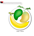 Fresh Mango A Famous Fruit in Papua New Guinea vector image vector image