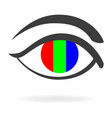 graphic of an eye with rgb color vector image vector image