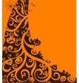 Halloween decorative background vector image vector image