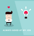 happy and proud businessman who loves his job vector image