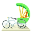 Indian bicycle icon cartoon style vector image vector image