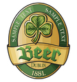 Irish beer label vector | Price: 3 Credits (USD $3)