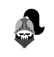 knight skull isolated metal armor warrior iron vector image vector image