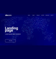 landing page design with world map in the form of vector image vector image