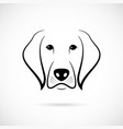 muzzle of dog on white background line art dog vector image vector image