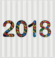 new year 2018 design vector image vector image