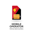 papua new guinea mobile operator sim card with vector image vector image