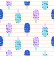 popsicle fun bright seamless pattern ice vector image vector image