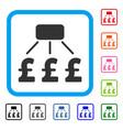 pound financial scheme framed icon vector image vector image