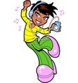 Pretty Dancing Ethnic Teen vector image