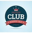 Private club badge vector image vector image