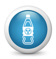 Radioactive bottle glossy icon vector | Price: 1 Credit (USD $1)