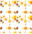 repeating pattern for packing honey products vector image