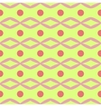 Rhombus and circle seamless pattern vector image