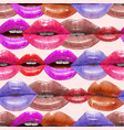 seamless pattern made of sexy lips vector image vector image