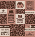 seamless pattern on theme coffee house vector image vector image