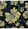 seamless vintage grunge floral pattern vector image