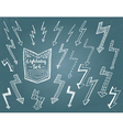 Set of hand drawn lightning vector image vector image