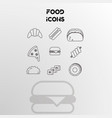set of icons on the theme of food vector image vector image