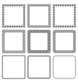set square frames with oriental motif vector image vector image
