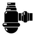 Sewage siphon icon simple black style