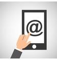 smartphone app mail social media icon vector image vector image