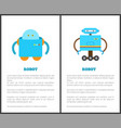 solid wireless automatic robots commercial posters vector image vector image