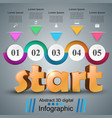 start 3d business infographics vector image vector image