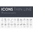 Sushi Thin Line Icons vector image