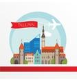 Tallin Estonia detailed silhouette vector image vector image