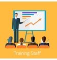 Training Staff Briefing Presentation vector image vector image