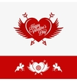 Valentines Day Heart With Wings Concept Background vector image vector image