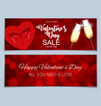 valentines day sale discont card eps10 vector image vector image