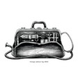 vintage medical bag hand drawing engraving style vector image vector image