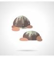 Chocolates flat color design icon vector image
