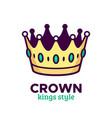 golden crown icon or logo design vector image