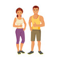 sports man and woman vector image