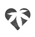 Heart symbol with cannabis leaf inside Marijuana vector image