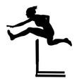 100 m hurdles woman runner vector image vector image