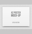 a2 white poster mock-up vector image vector image