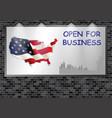advertising billboard uk open for business vector image vector image