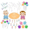 Baby kit for the holiday Birthday boy or girl vector image vector image